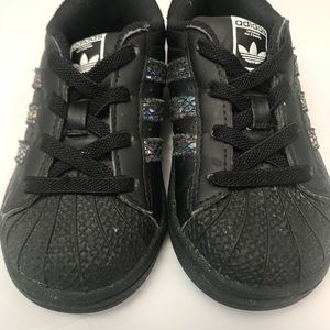 reputable site 1d6c9 d0280 adidas Shoes - ADIDAS Superstar Toddler Shoes Sneakers Black 7K